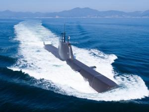 <font color='#0000ff'>1천800t급 잠수함 '홍범도함' 해군에 인도</font>
