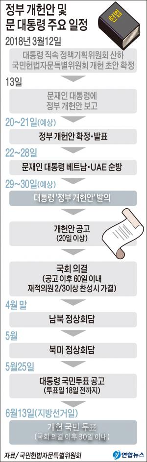 정부 개헌안 '선 공개 후 발의' 가닥