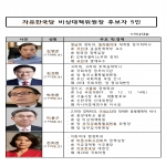 한국당 위기 수습할 비대위원장 후보 5명 압축