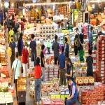추석 용품 구입하려는 시민들로 북적이는 울산농수산물도매시장